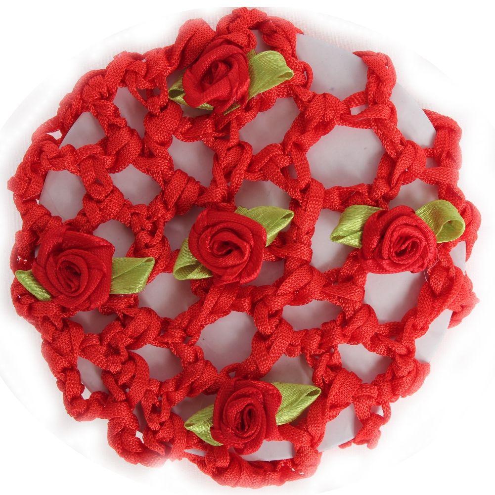 rot mit Blüten