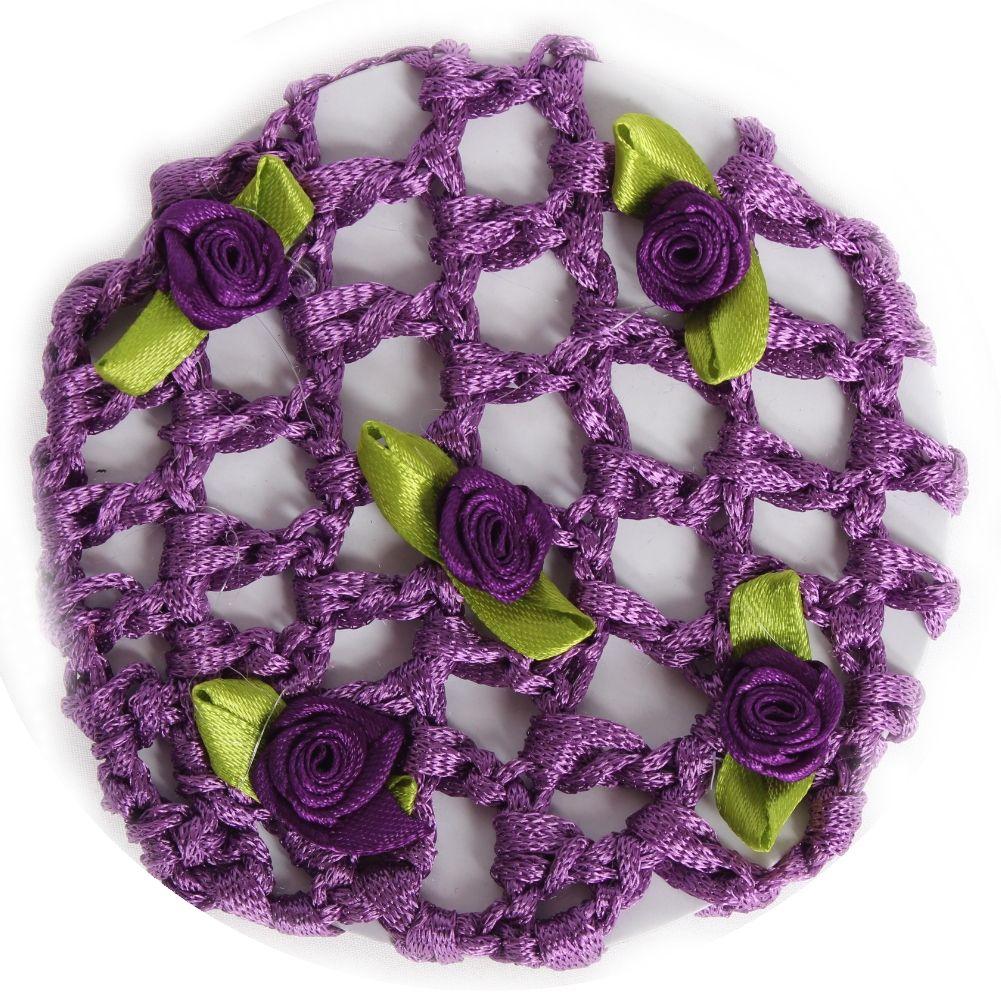 lila mit Blüten