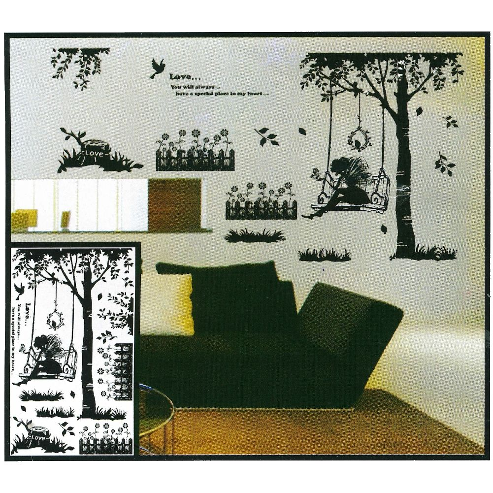 3d landschaft wanddeko wandtattoo wandaufkleber. Black Bedroom Furniture Sets. Home Design Ideas