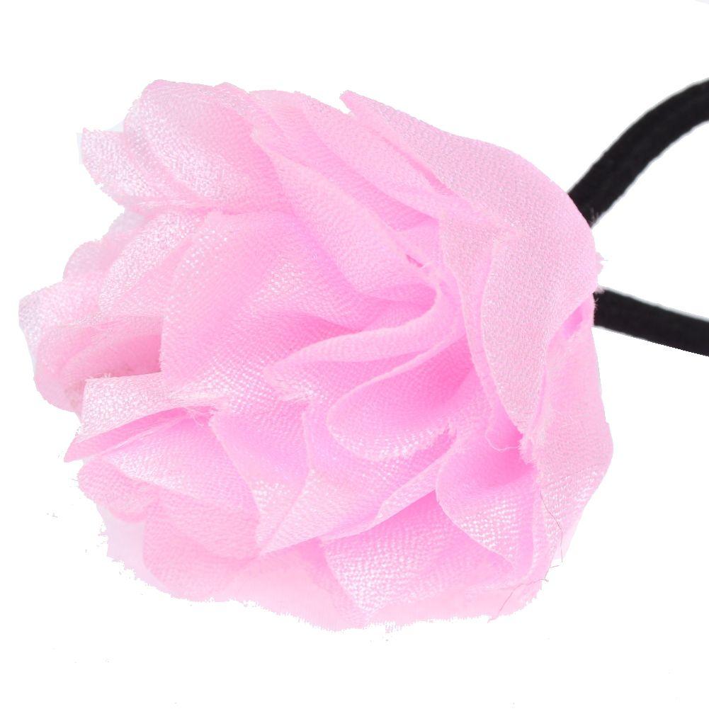 m dchen zopfgummi haarschmuck haarbl te blume zopfband ebay. Black Bedroom Furniture Sets. Home Design Ideas