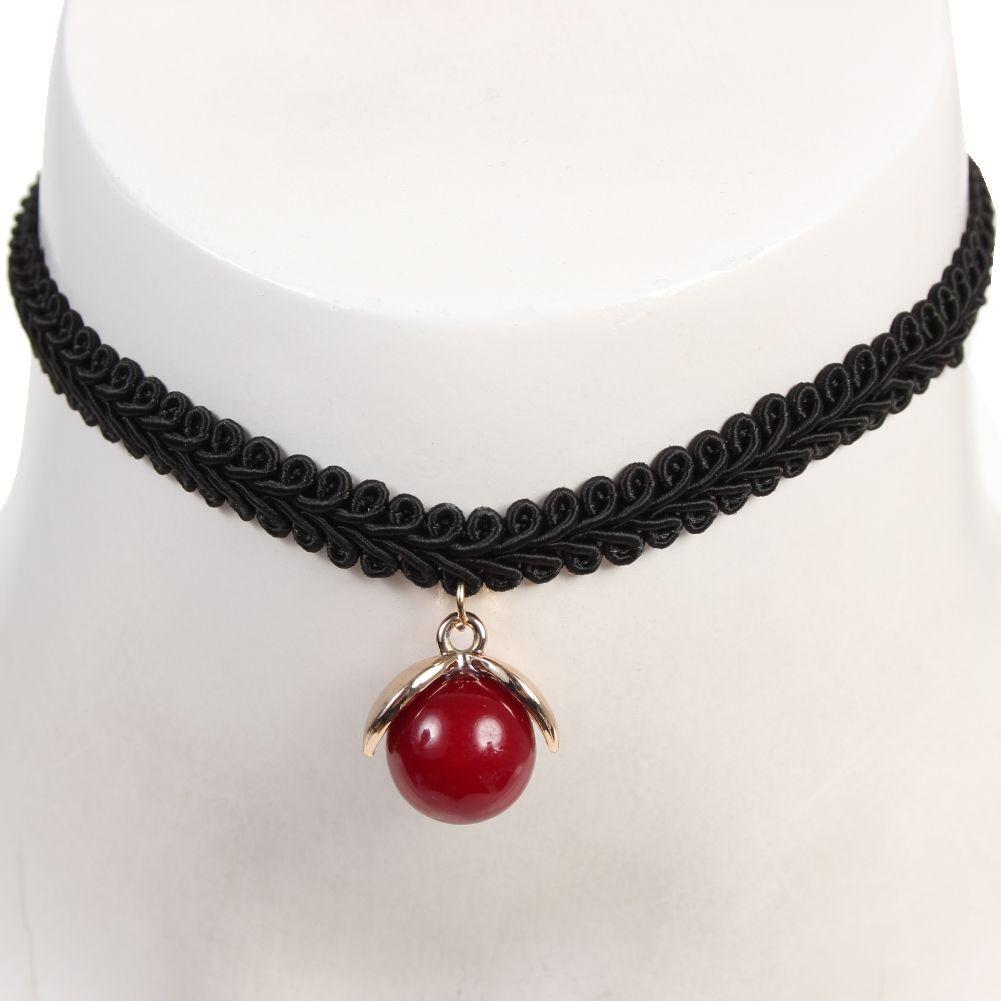 gothic samt halsband choker strass perlen modell 3 der onlineshop f r haarschmuck. Black Bedroom Furniture Sets. Home Design Ideas