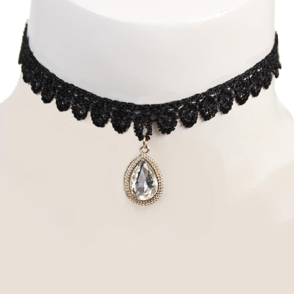 gothic samt halsband choker strass perlen modell 5 der onlineshop f r haarschmuck. Black Bedroom Furniture Sets. Home Design Ideas