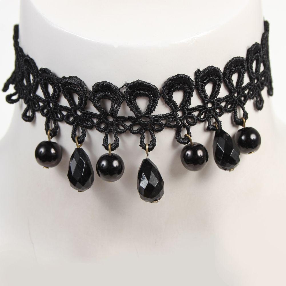 gothic samt halsband choker strass perlen modell 6 der onlineshop f r haarschmuck. Black Bedroom Furniture Sets. Home Design Ideas