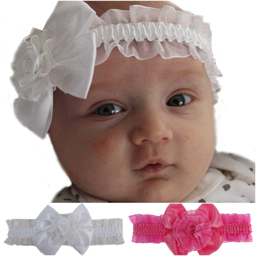 Kinder Haarband Blumen Mädchen Stirnband Schleife Baby Taufe