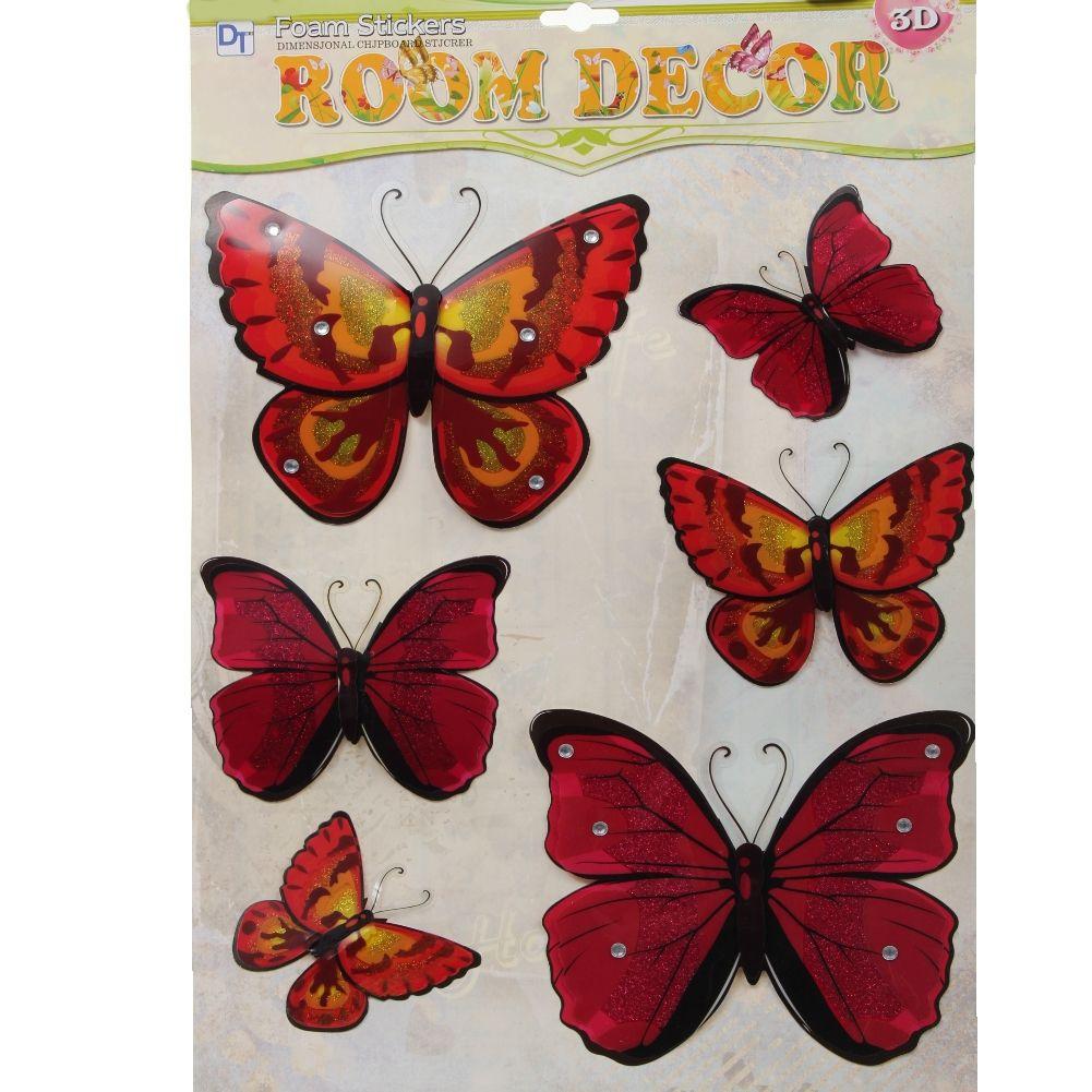 3d schmetterling wandsticker wanddeko wandtattoo wandaufkleber butterfly. Black Bedroom Furniture Sets. Home Design Ideas