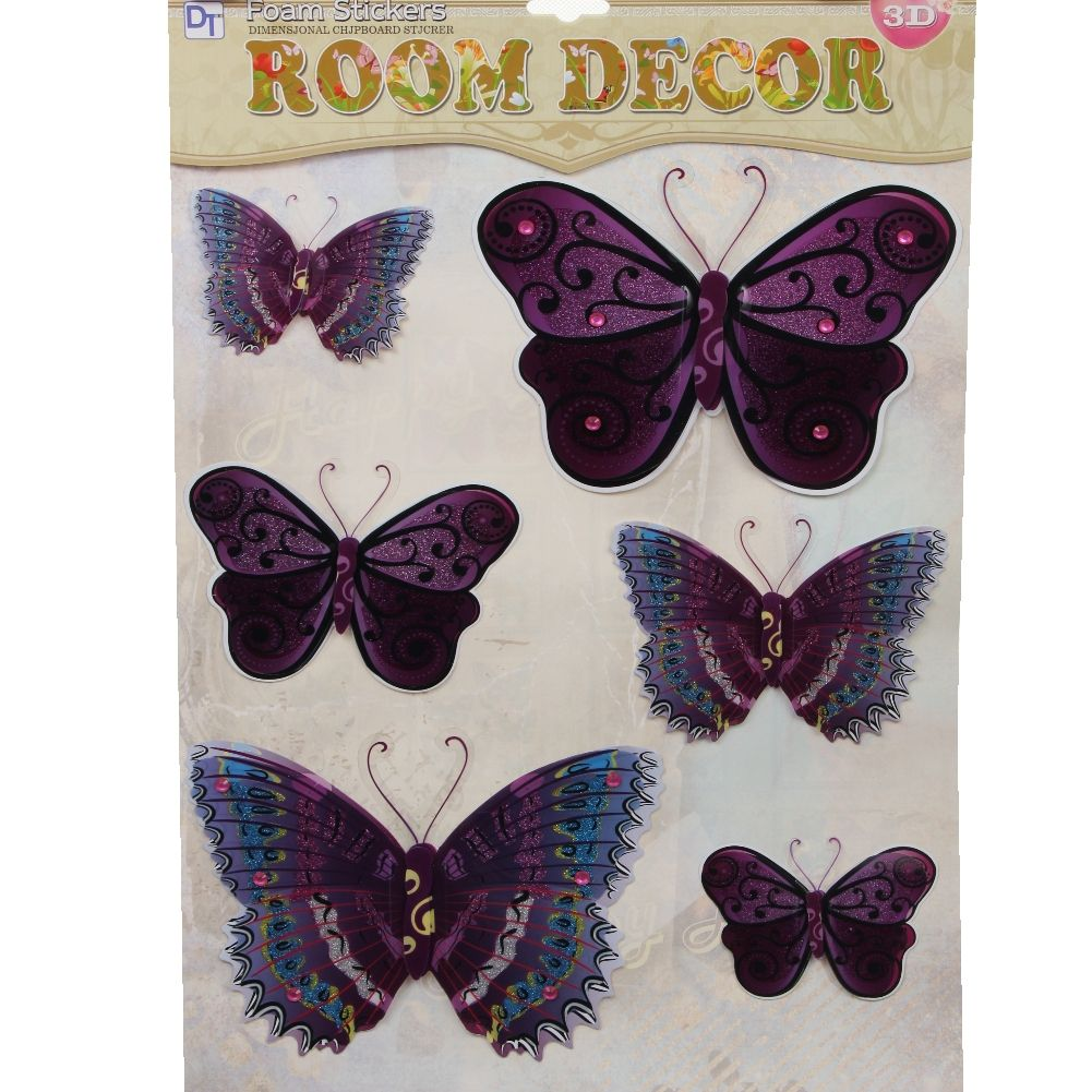 3d schmetterling wandsticker wanddeko wandtattoo wandaufkleber butterfly ebay. Black Bedroom Furniture Sets. Home Design Ideas