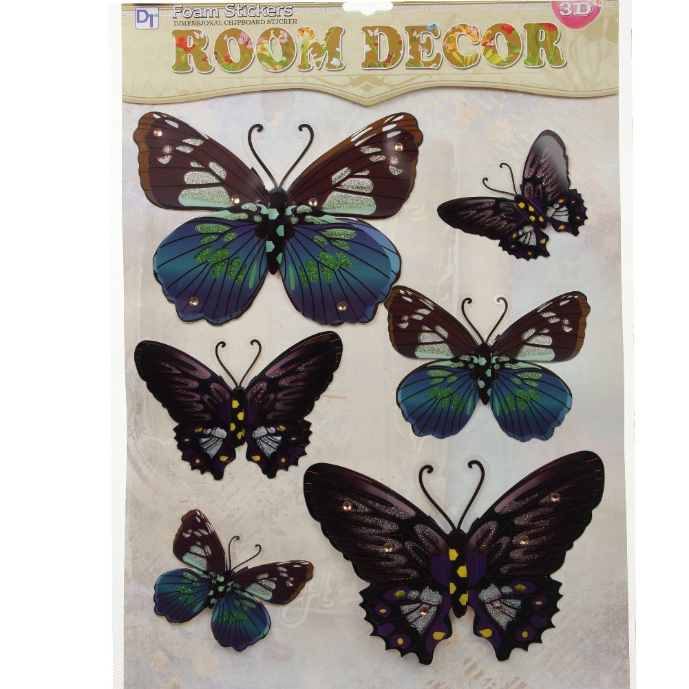 3d schmetterling wandsticker wanddeko wandtattoo. Black Bedroom Furniture Sets. Home Design Ideas