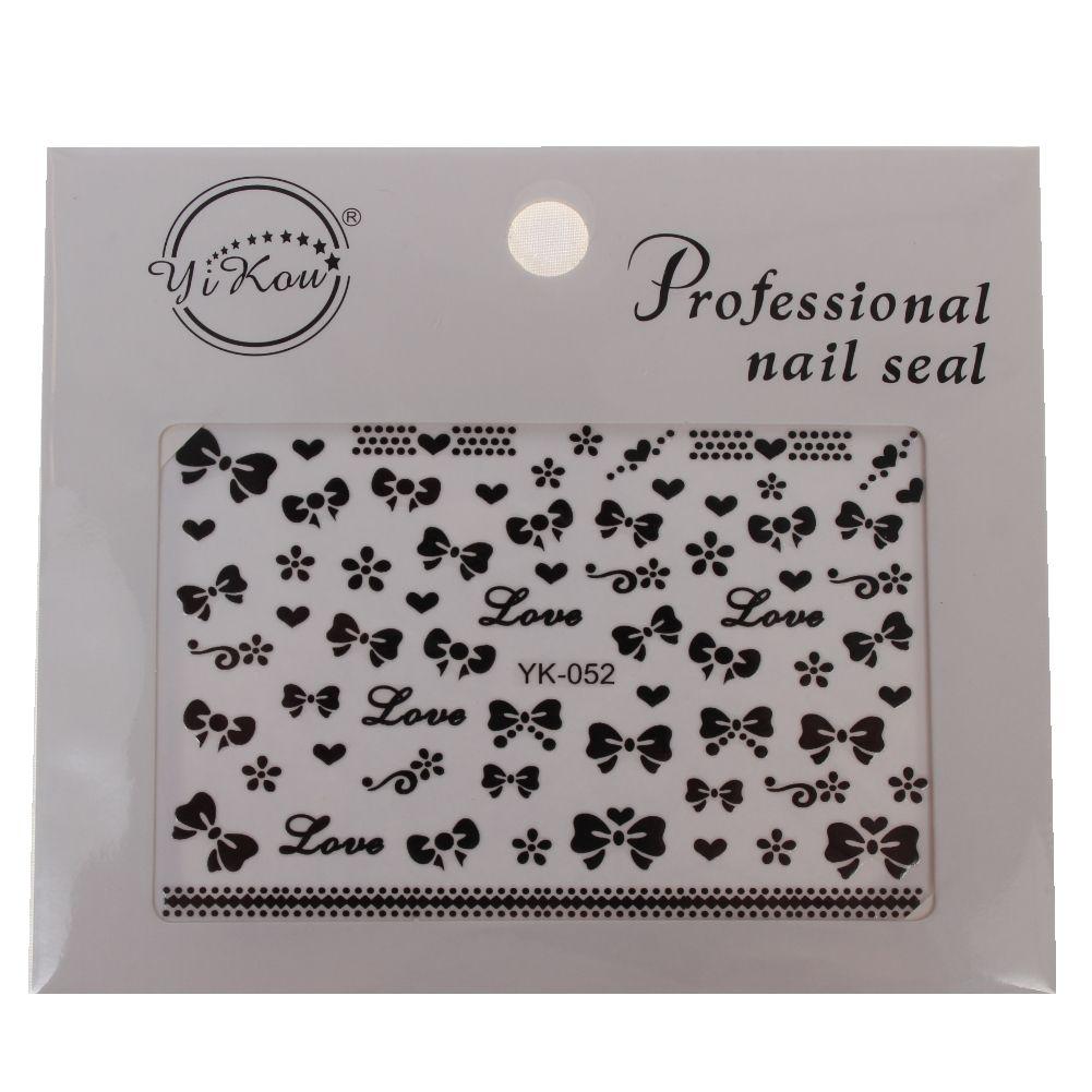 3D Nagel Sticker Schleife Herz Love Loop Aufkleber Nail Art New ...
