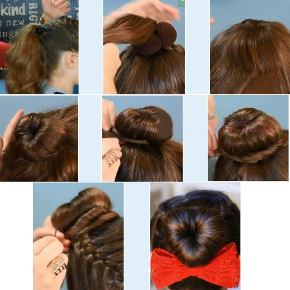 Hair Styling Accessories Heart Bun Plait Magic Hair Pin Hair