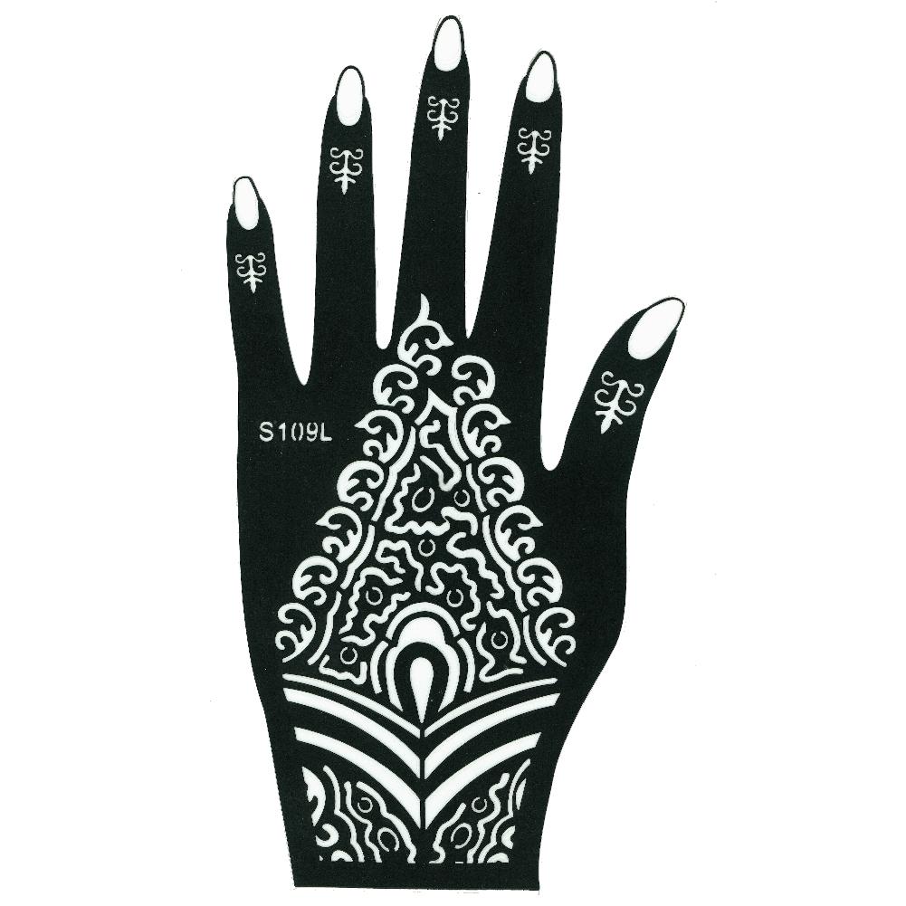 Henna Tattoo Farbe Kaufen Hannover: Henna Tattoo Schablone Für Die Linke Hand Justfox.de