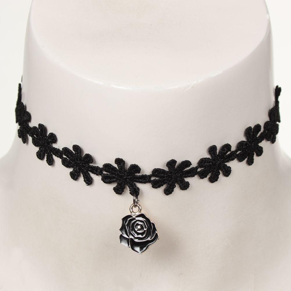 gothic samt halsband choker strass perlen rose der onlineshop f r haarschmuck und. Black Bedroom Furniture Sets. Home Design Ideas