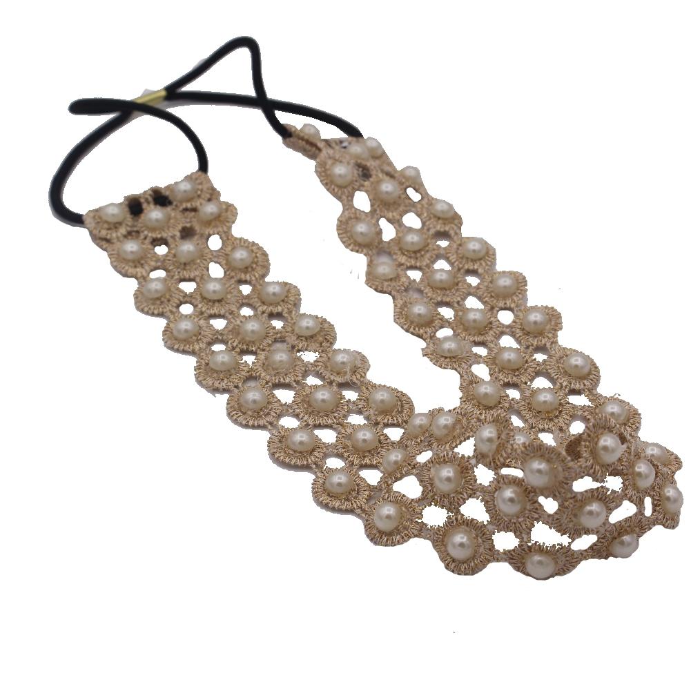 spitzenstoff haarband mit perlen der onlineshop f r haarschmuck und viel mehr. Black Bedroom Furniture Sets. Home Design Ideas