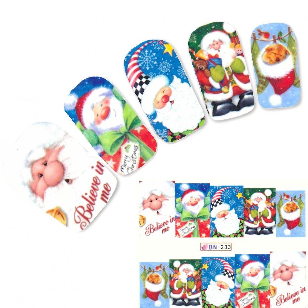 Tattoo Nail Art Weihnachten Christmas Aufkleber Nagel Sticker ...