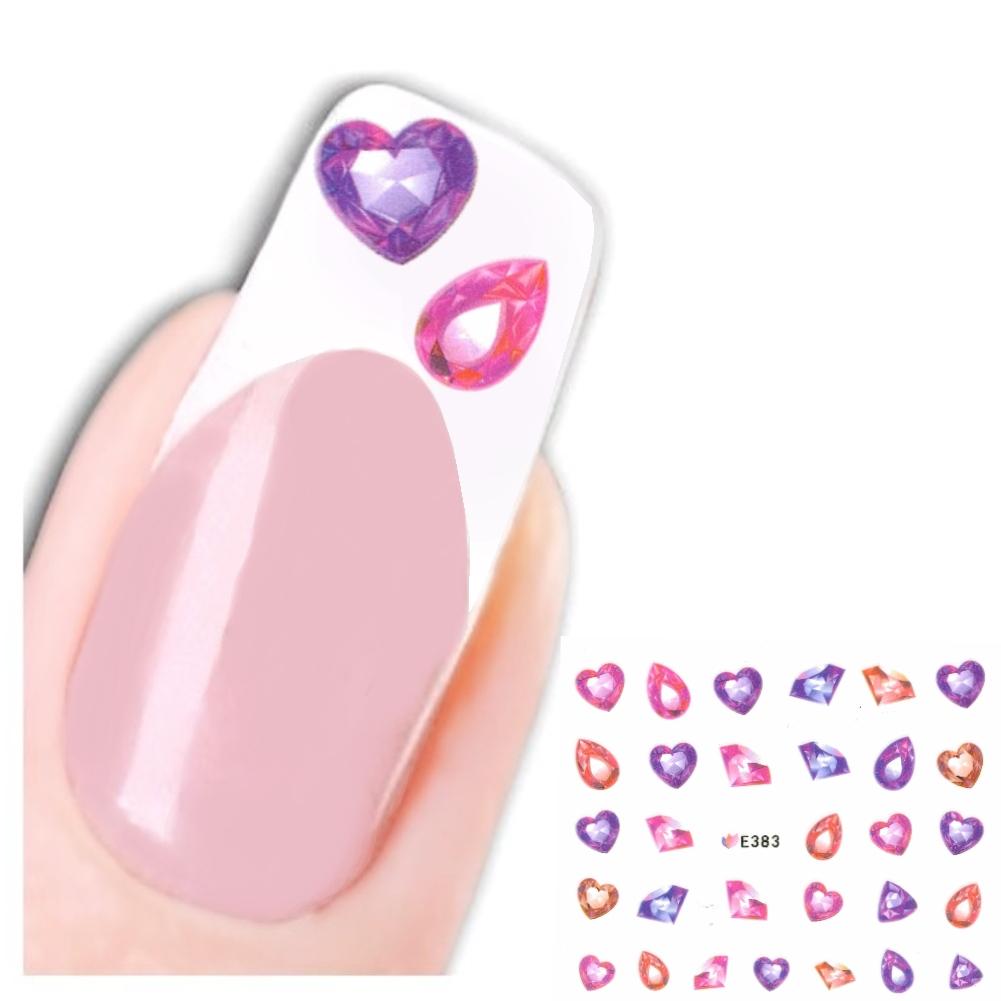 3D Nagel Sticker Nail Diamant Herz Tropfen Aufkleber Justfox.de ...