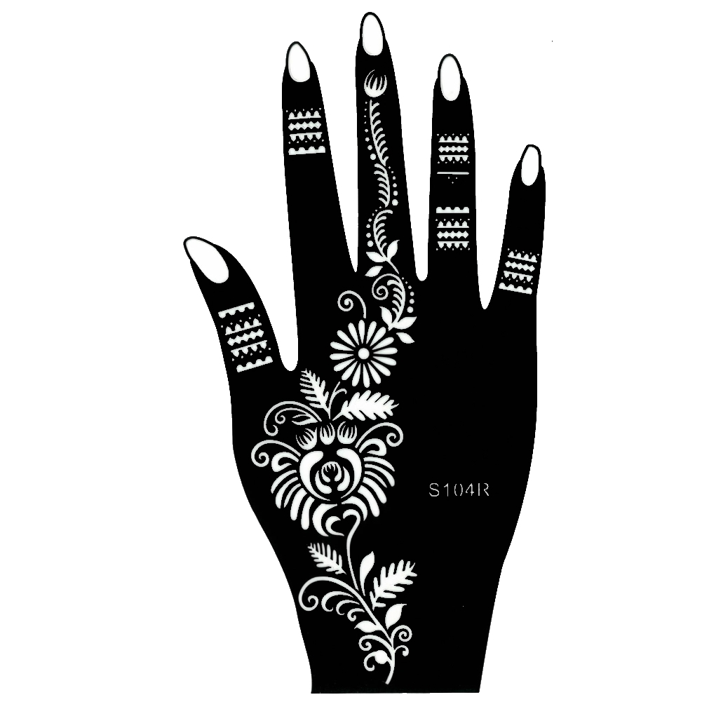Henna Tattoo Farbe Kaufen Hannover: Henna Tattoo Schablone Hand Rechts Kina Handbemalung Dövme