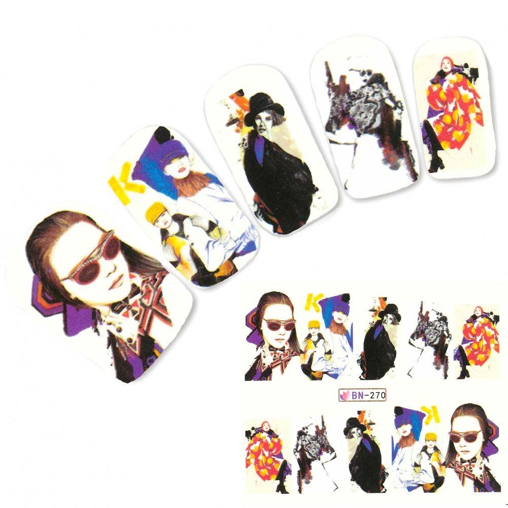 Tattoo Nail Art Manga Model Mädchen Lifestyle Nagel Sticker Justfox ...