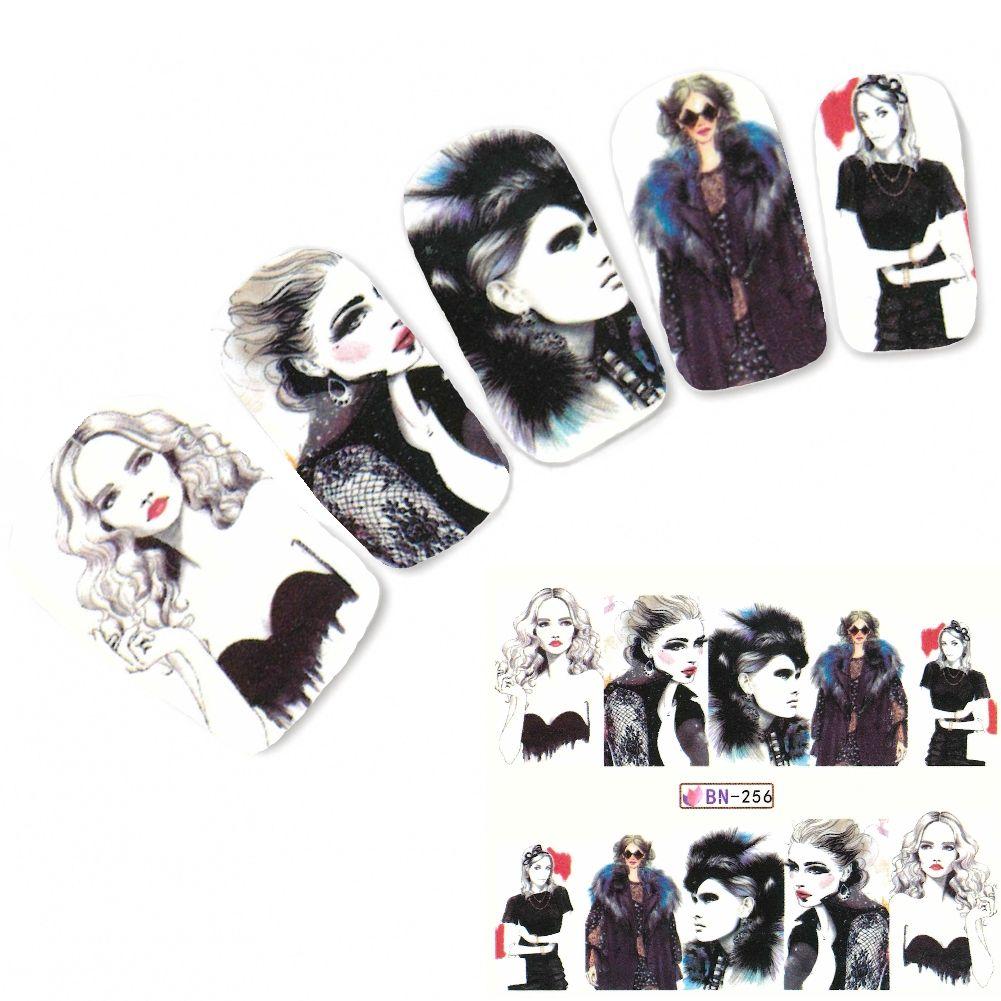 Tattoo Nail Art Modell Mädchen Life Style Aufkleber Nagel Sticker ...