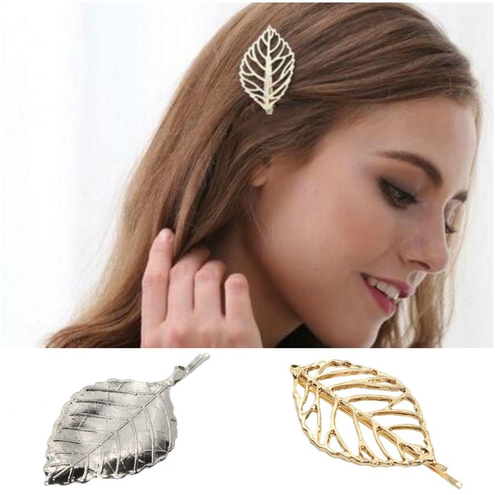 Blatt Haarnadel Haarclip Haarklammer Haarspange Haarschmuck Haar Pin Anthrazit
