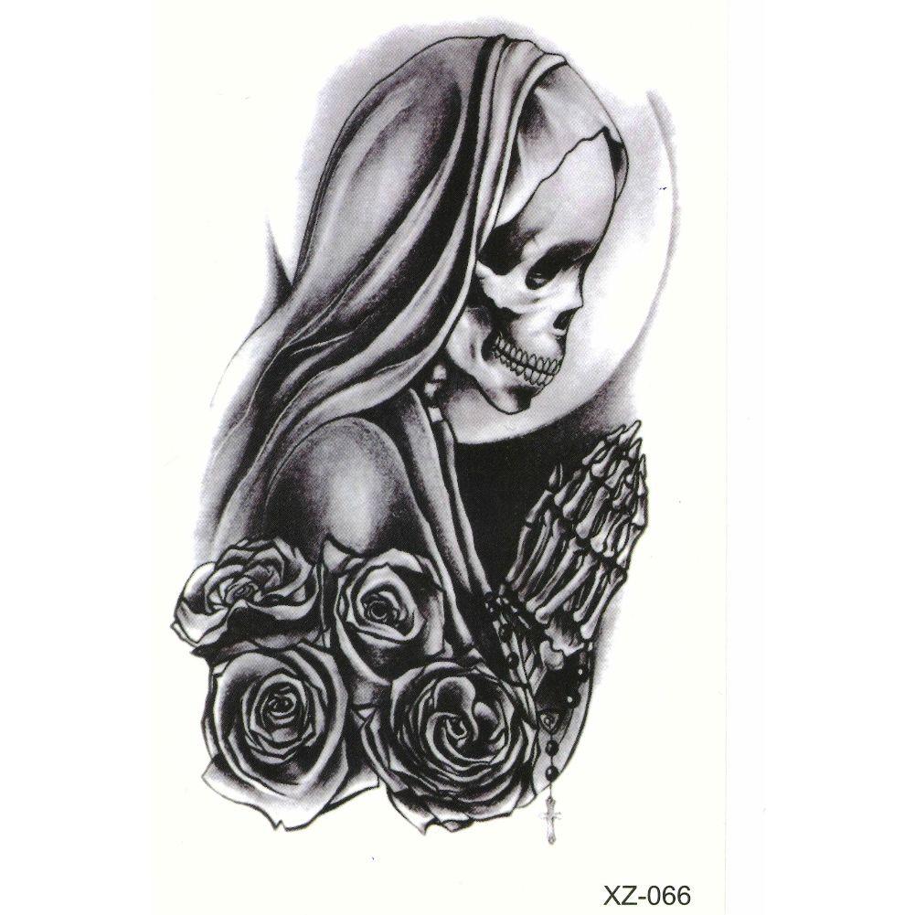 tattoo nail art la catrina day of the dead dia de muertos. Black Bedroom Furniture Sets. Home Design Ideas