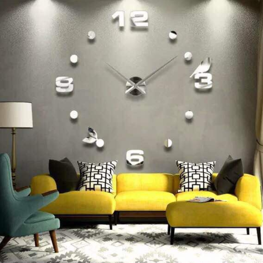 designer wanduhr wohnzimmer wandtattoo design vogel deko xxl 3d ebay. Black Bedroom Furniture Sets. Home Design Ideas