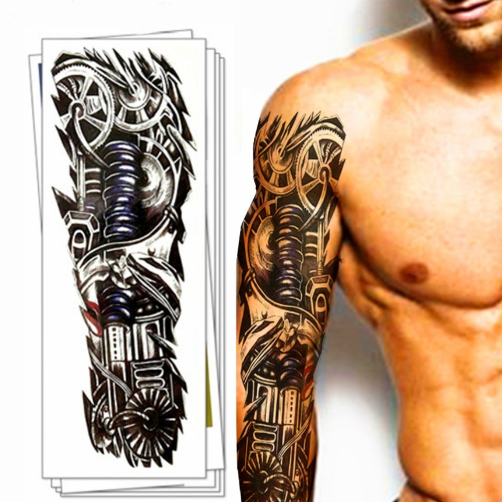tempor res tattoo mechanischer arm t towierung design k rperkunst klebetattoo ebay. Black Bedroom Furniture Sets. Home Design Ideas