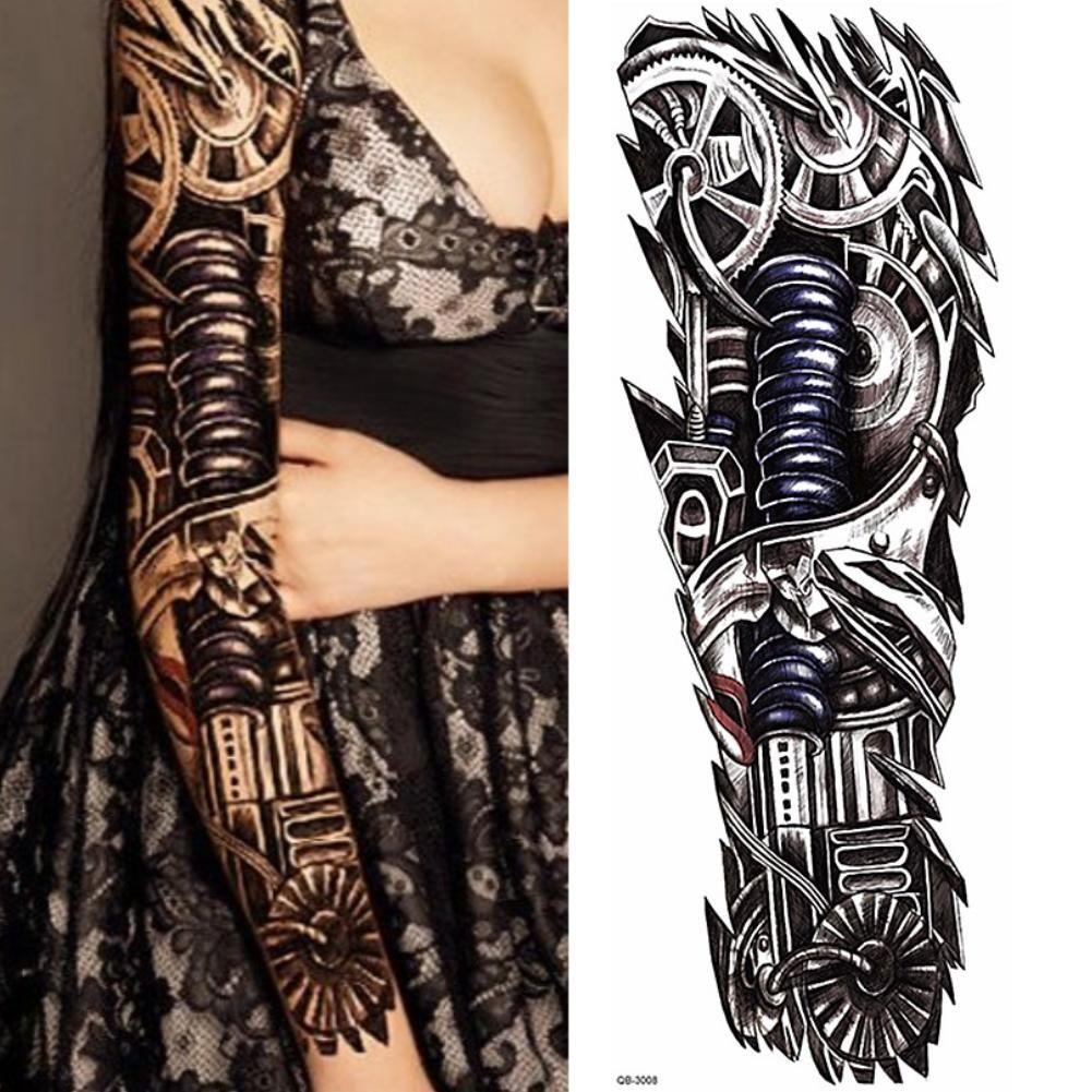 Temporäres Tattoo Mechanischer Arm Tätowierung Design Justfoxde