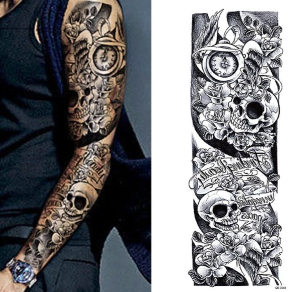 Biomechanik Tattoo Ganzer Arm tattoo ganzer arm frau rosen