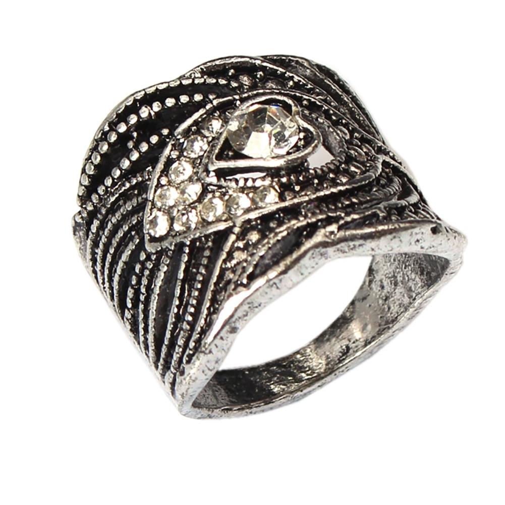 Zeeme Jewelry anillo 925 Sterling plata Rosé dorado rosas cuarzo 16x12mm