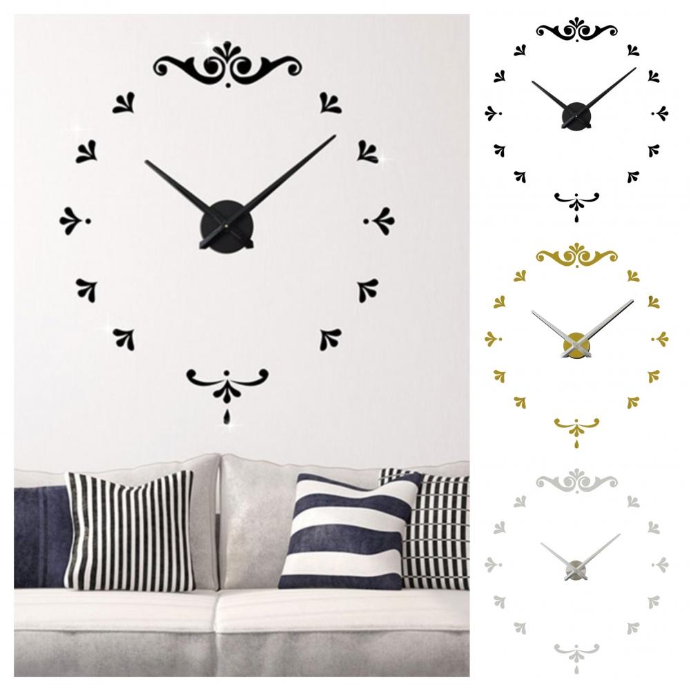Designer Wanduhr Wohnzimmer Wandtattoo Design Ornamente Deko Xxl 3d Ebay