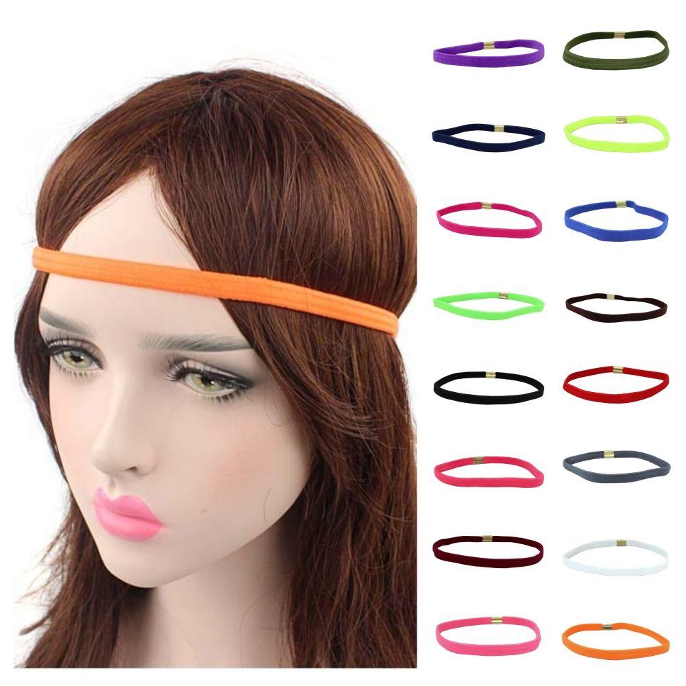 Yoga Haarband Lila Stirnband Schweißband Elastisch Joga Sport Gummi