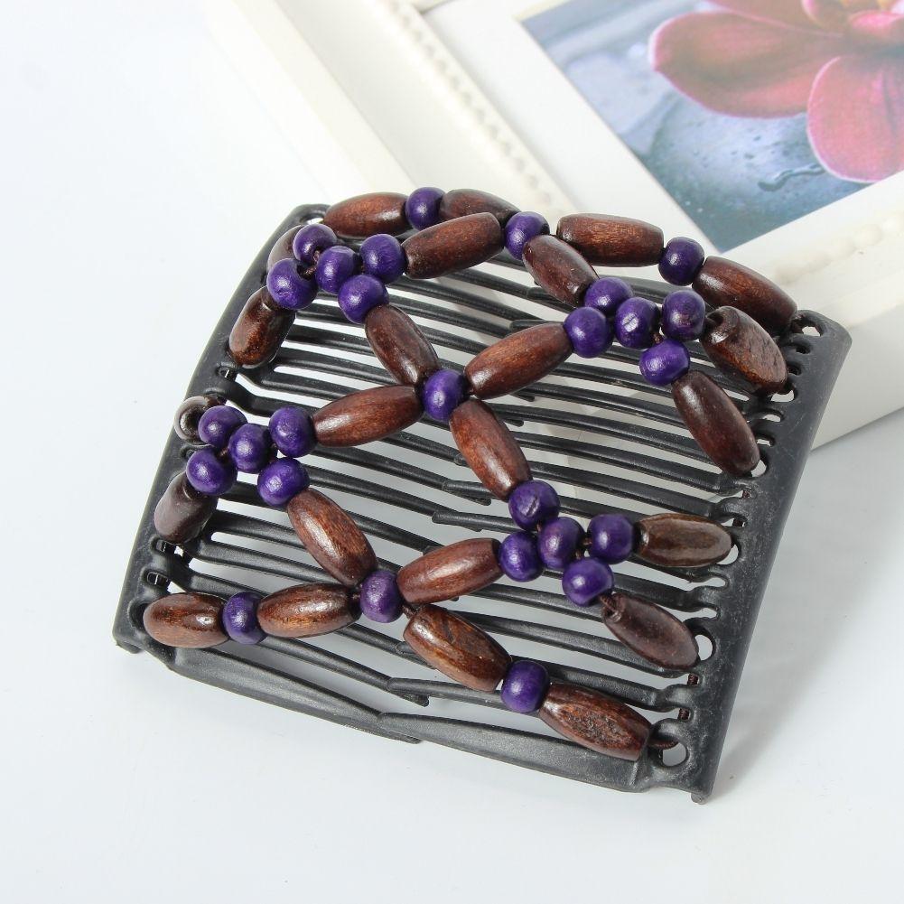 Trend African Hairclip Haarklammer Haargreifer Butterfly Holzdesign Bunt