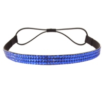 Luxus Strass Glitzer Haarband in blau