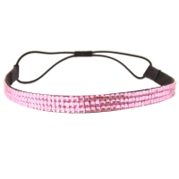 Luxus Strass Glitzer Haarband in rosa