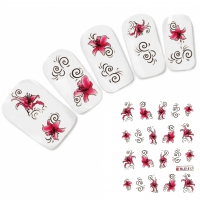 Nagel Sticker Nail Art Tattoo Orchidee Blumen Ornamente Flower Aufkleber Neu!