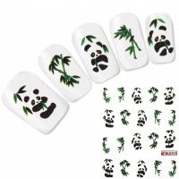 Tattoo Nail Art Panda Aufkleber Nagel Sticker Neu!