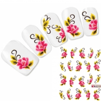 Tattoo Nail Art Blume Aufkleber Flower Nagel Sticker Neu!