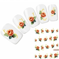 Tattoo Nail Art Blume Aufkleber Nagel Sticker Neu!