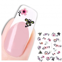 3D Tattoo Nail Art Blume Aufkleber Nagel Sticker Neu!