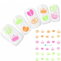 Tattoo Nail Art Krone Aufkleber Nagel Sticker Neu!