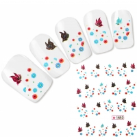 Tattoo Nail Art Schmetterling Blume Aufkleber Nagel Sticker Neu!