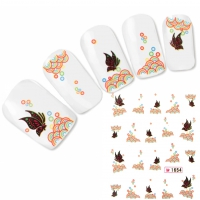 Tattoo Nail Art Schmetterling Aufkleber Nagel Sticker Neu!