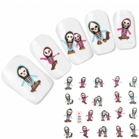 Tattoo Nail Art Skelett Aufkleber Nagel Sticker Neu!