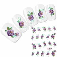 Tattoo Nail Art Orchidee Aufkleber Nagel Sticker Neu!