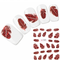 Tattoo Nail Art Feder Aufkleber Nagel Sticker Neu!