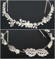 Luxus Strass Diadem Tiara in silber