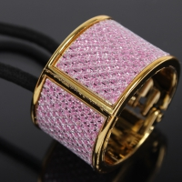 Glitzernder Haarring in Rosa Goldener Rand