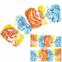 Tattoo Nail Art Aufkleber Löwe Tiger Muster Nagel Sticker Neu!