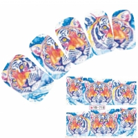 Tattoo Nail Art Aufkleber Tiger Nagel Sticker Neu!