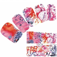Tattoo Nail Art Aufkleber Bunt Muster Nagel Sticker Neu!