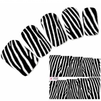 Tattoo Nail Art Aufkleber Zebra Muster Nagel Sticker Neu!